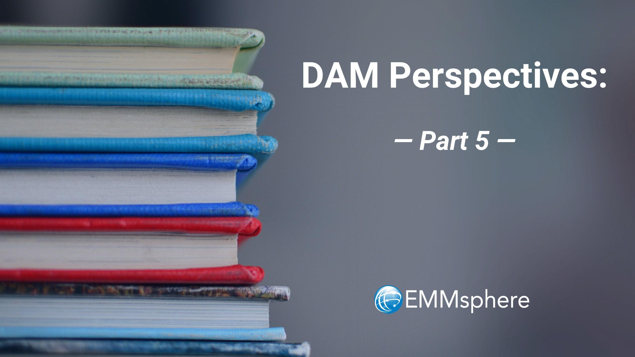 DAM Perspectives - Part 5