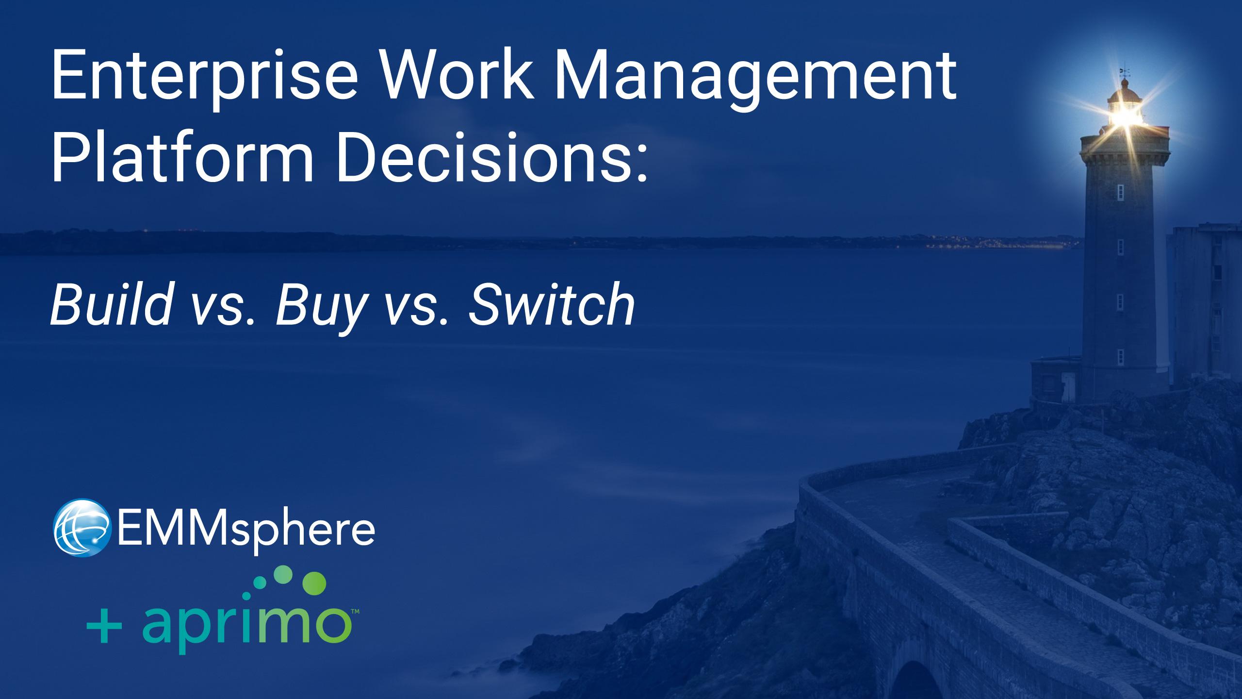 EWM Platform Decisions - Build Buy Switch